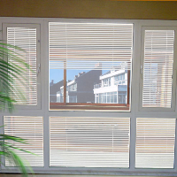 decorative glass, blinds between glass