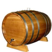 Wooden oak wine barrel used
