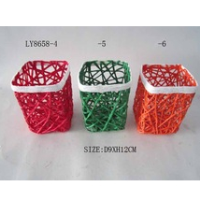Handmade High Quality Paper Rope Storage Baskets