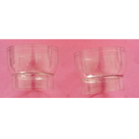 Clear plastic candle holder cup