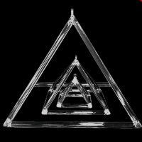 natural quartz crystal clear singing pyramid for sound therapy