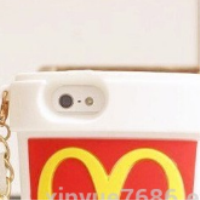 New Moschino McDonald's Silicone Case 3D French Fries Chips For iphone4/5/6/SamsungS4/S5