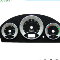 Plastic 3D Automotive Instrument Cluster Dial Page