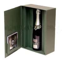 factory 2.5mm paperboard wine box with 4c printing