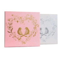 pink chocolate boxes group with stamping