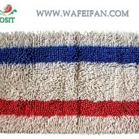 striped chenille logo tufted nylon mat