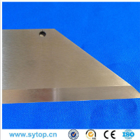 Cobalt alloy blade for cutting chemical fiber, textile