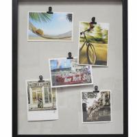 Hot sale China Manufacturer 5 Metal Clips PS self-adhesive photo frame-DIY
