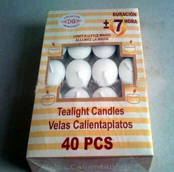 Box White Tealight Candle