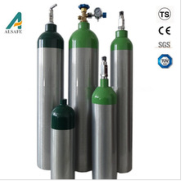Hospital medical oxygen gas cylinder aluminum hospital medical oxygen gas cylinder