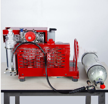 portable air compressor for breathing apparatus