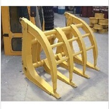 wheel loader grass grapple