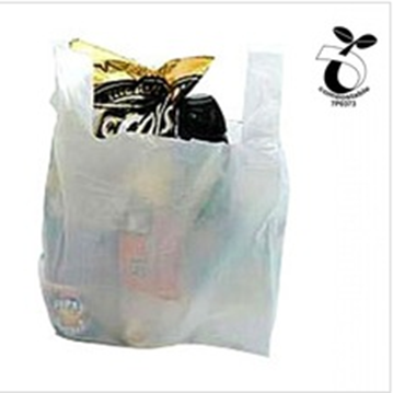 EN13432 Certified Plastic Shopping Bags, Vest Carrier Bags