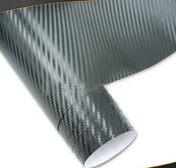 High quality new texture carbon fiber black clear bubble free 1.52*30m.