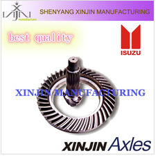 ISUZU crown wheel and pinion 7:41,spiral bevel gear,spiral bevel cart axle,auto parts factory,differential gear