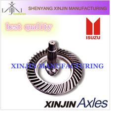 ISUZU crown wheel and pinion 7:41,spiral bevel gear,spiral bevel cart axle,auto parts factory,differential gear