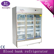 Hospital Mortuary corpse refrigerator cabinet with locked 2 corpses