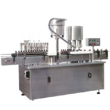 Spray liquid filling and capping machine