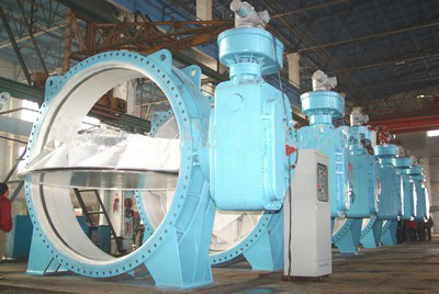 big size cast iron butterfly valve