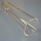 High purity clear quartz glass tube for 1200C Split Tube Furnace OD60 80 100mm