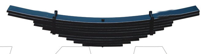 Heavy Duty Truck Axle Leaf Spring with 172kg Spring Weight, OEM and ODM Services Offered