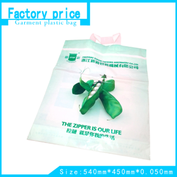 plastic bag with handles and logo