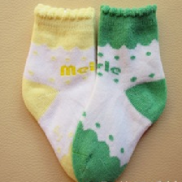 Fashion design combed cotton baby socks