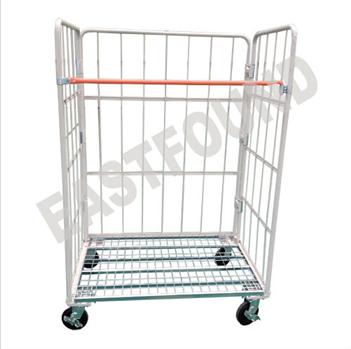 Nest Away Folding Truck Rolling Cage Pallet Steel Trolley
