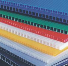 Corrugated plastic sheet, PE hollow board