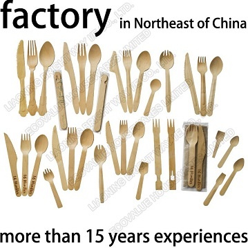 Wooden Disposable Cutlery, Biodegradable Birch Wood Cutlery