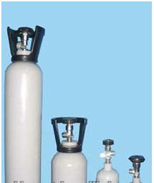 Industrial specialty gas aluminum cylinder