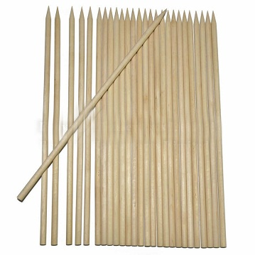 Wooden Skewers, Birch Wood Barbecue Skewer