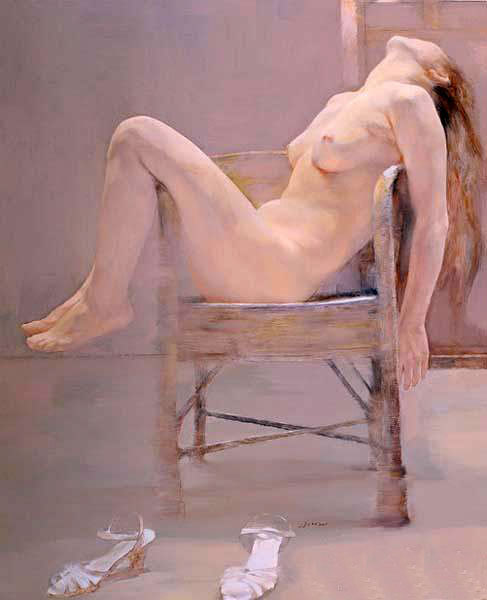 nude girl body oil painting