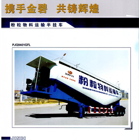 bulk powder goods transportation semi trailer/tanker semi trailer with bulk cement manufacturer