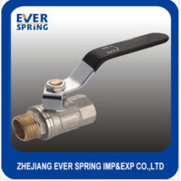 Lever handle brass ball valve with nipper