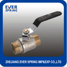 Lever handle male forged brass ball valve with nipper