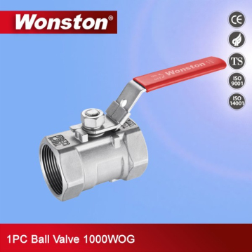 1PC Ball Valve Stainless Steel,1000WOG