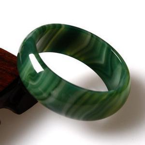Green Agate Charm Sideway Cross Bracelet G287