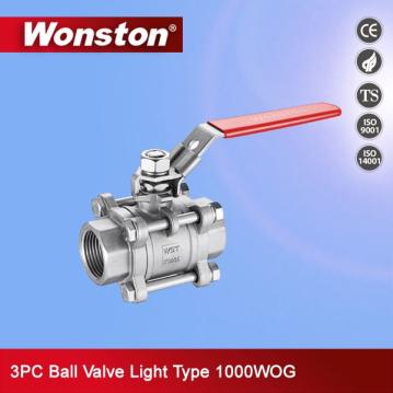 stainless steel 3 pc ball valve