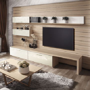 Living Room Modern Corner Wooden TV Cabinet