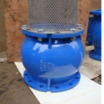 CAST IRON FLANGED SILENT CHECK VALVE WITH SCREEN