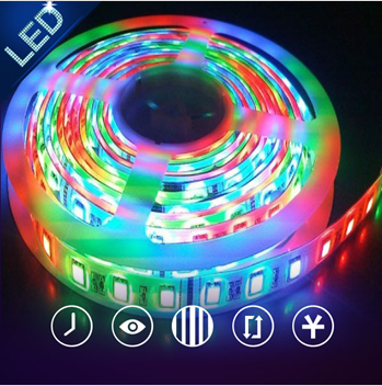 LED high output round flat flexible rope string led light