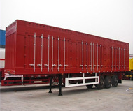 van semi-trailer tri-axle container trailer