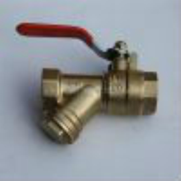 Ball valve with filter