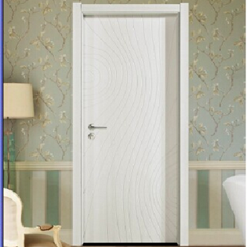 White paint solid wood door/generous interior composite wood door