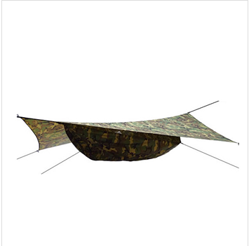 210T nylon portable parachute hammock camouflage tarp