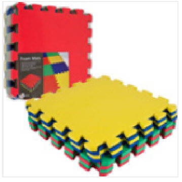 Eco-friendly eva foam interlocking floor mats