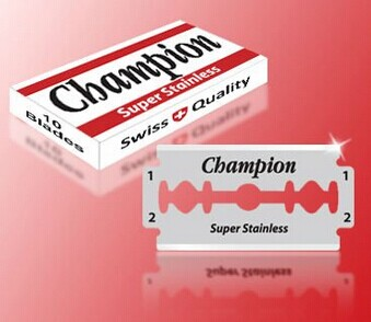 DURABLADE SWISS QUALITY CHAMPION SUPER STAINLESS STEEL DOUBLE EDGE RAZOR BLADES