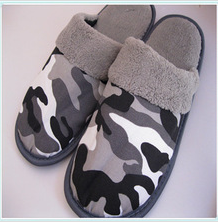 Outdoor cotton plush bedroom slippers