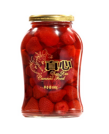 Zhenxin Canned Strawberry in Persevered Food